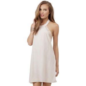 Tobi Ivory Lace Shift Halter Dress XS